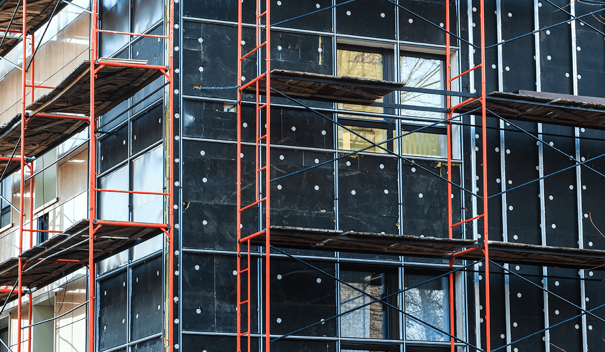 scaffolding on building